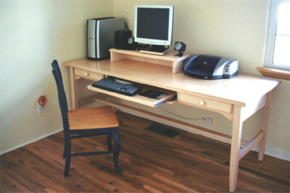 Two drawer computer desk