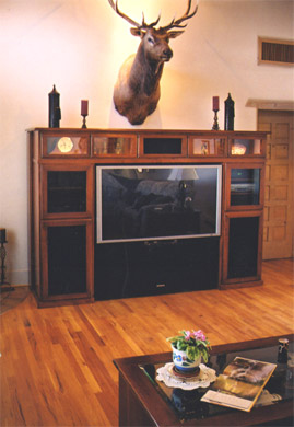 Cherry-stained Alder Entertainment Center