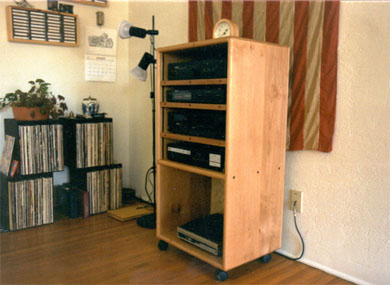 adjustable wheeled alder cabinet