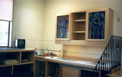 custom stained glass workstation