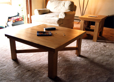 Alder Coffee Table With Slats