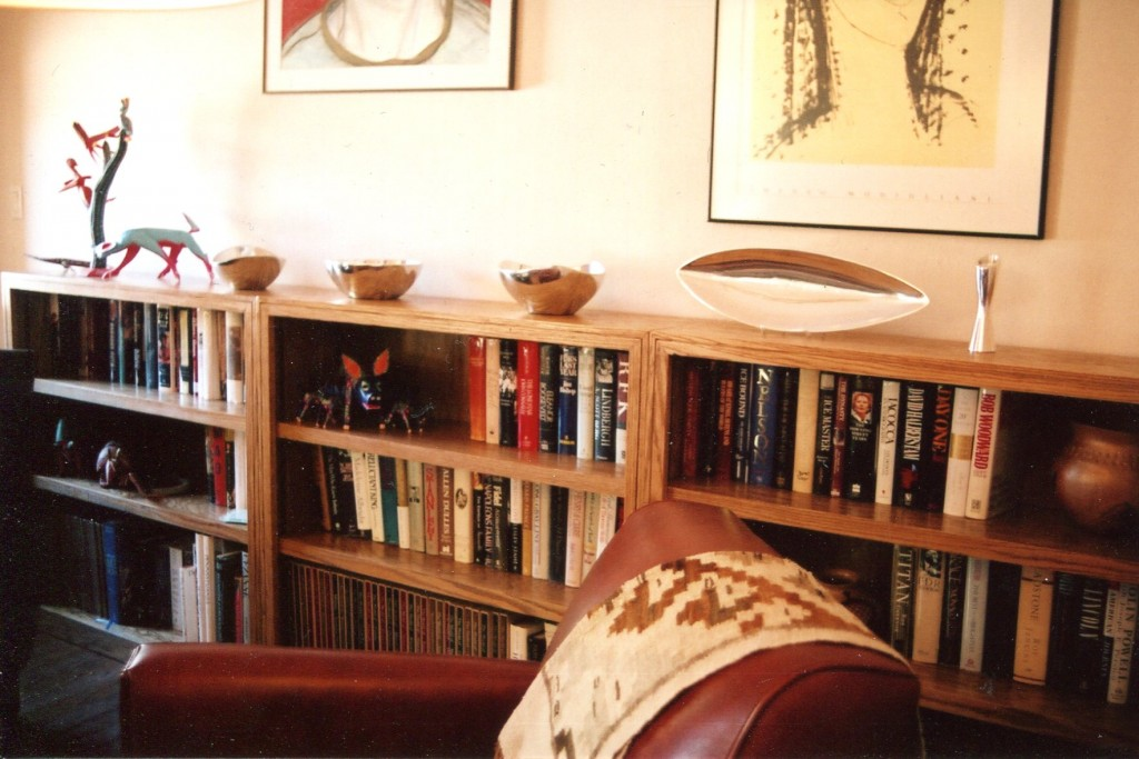 This Shows The Three Bookshelf Units Lined Up After Installation By Making Multiple Half Height Bookshelves Customer Gained A Small Display Area For