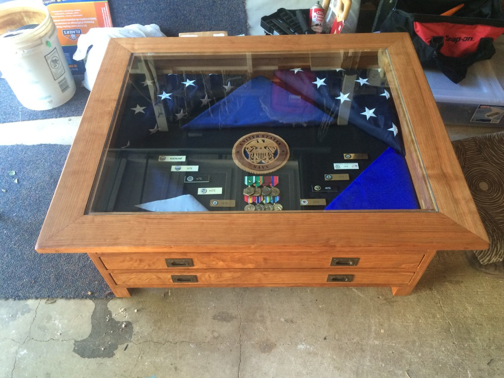 Coffee Table With Display Case Inset