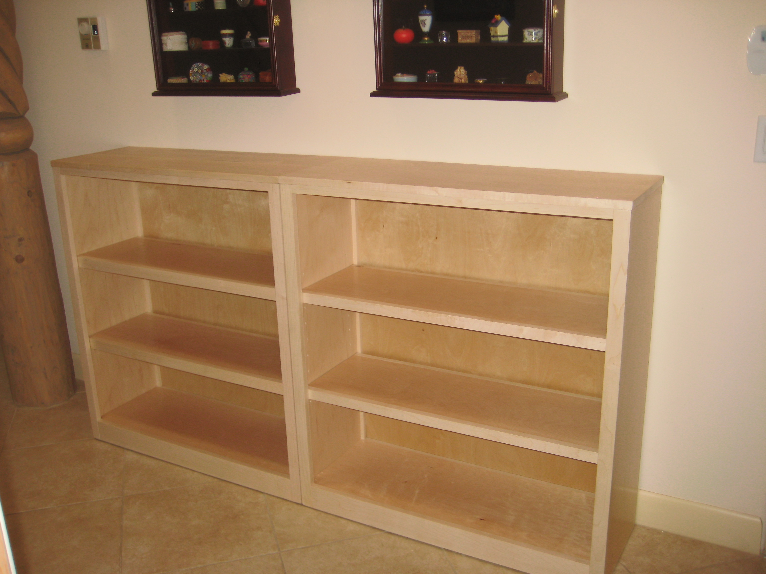 White maple bookshelf