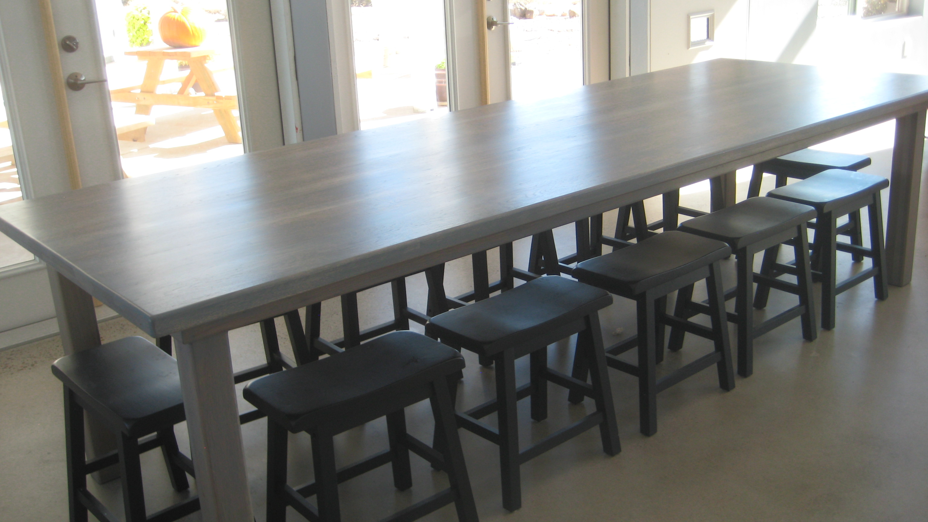 solid hickory dining room table