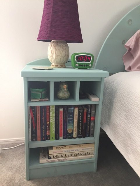 Painted Knotty Pine night stand
