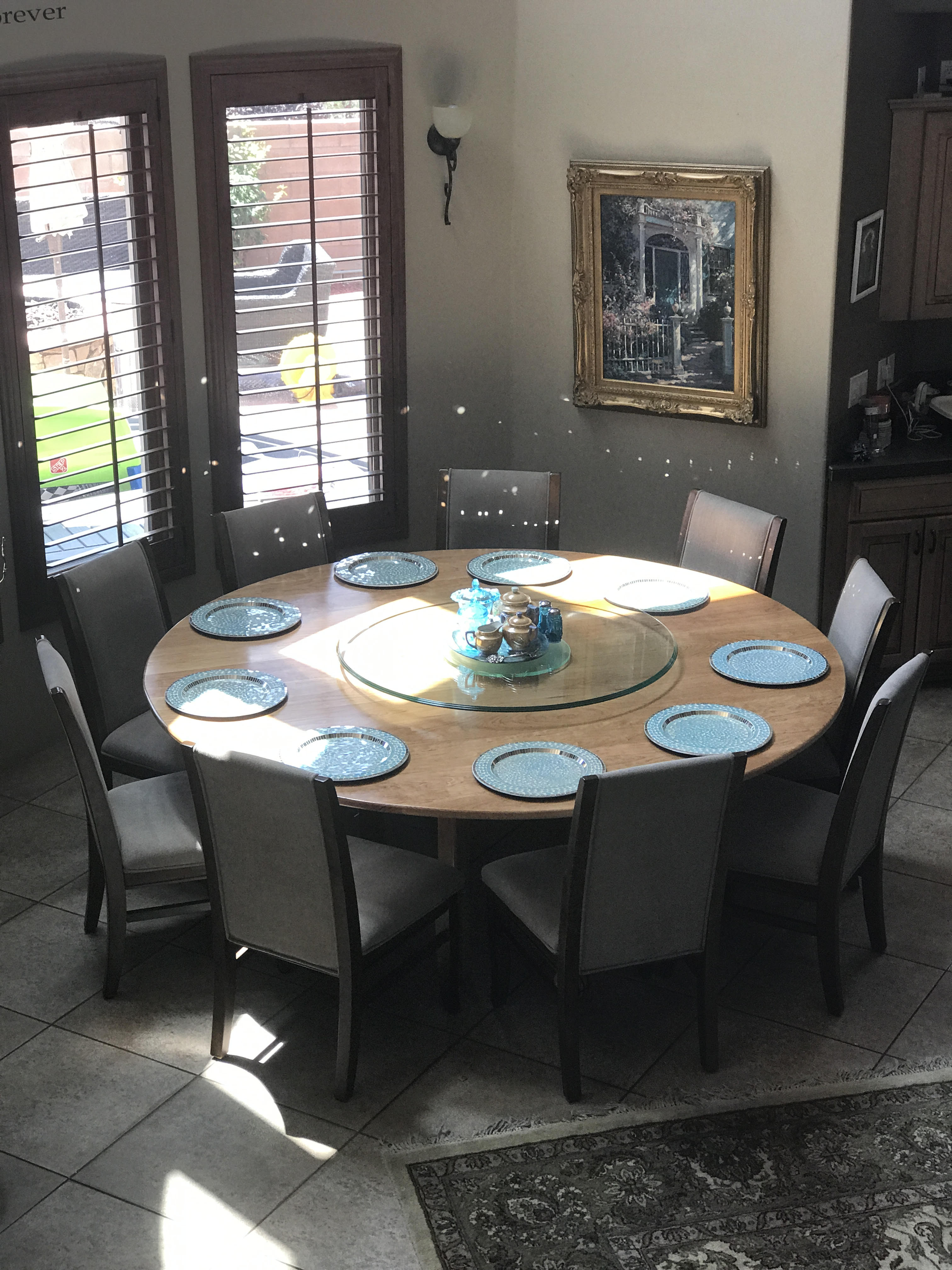 Cherry 7 foot round table